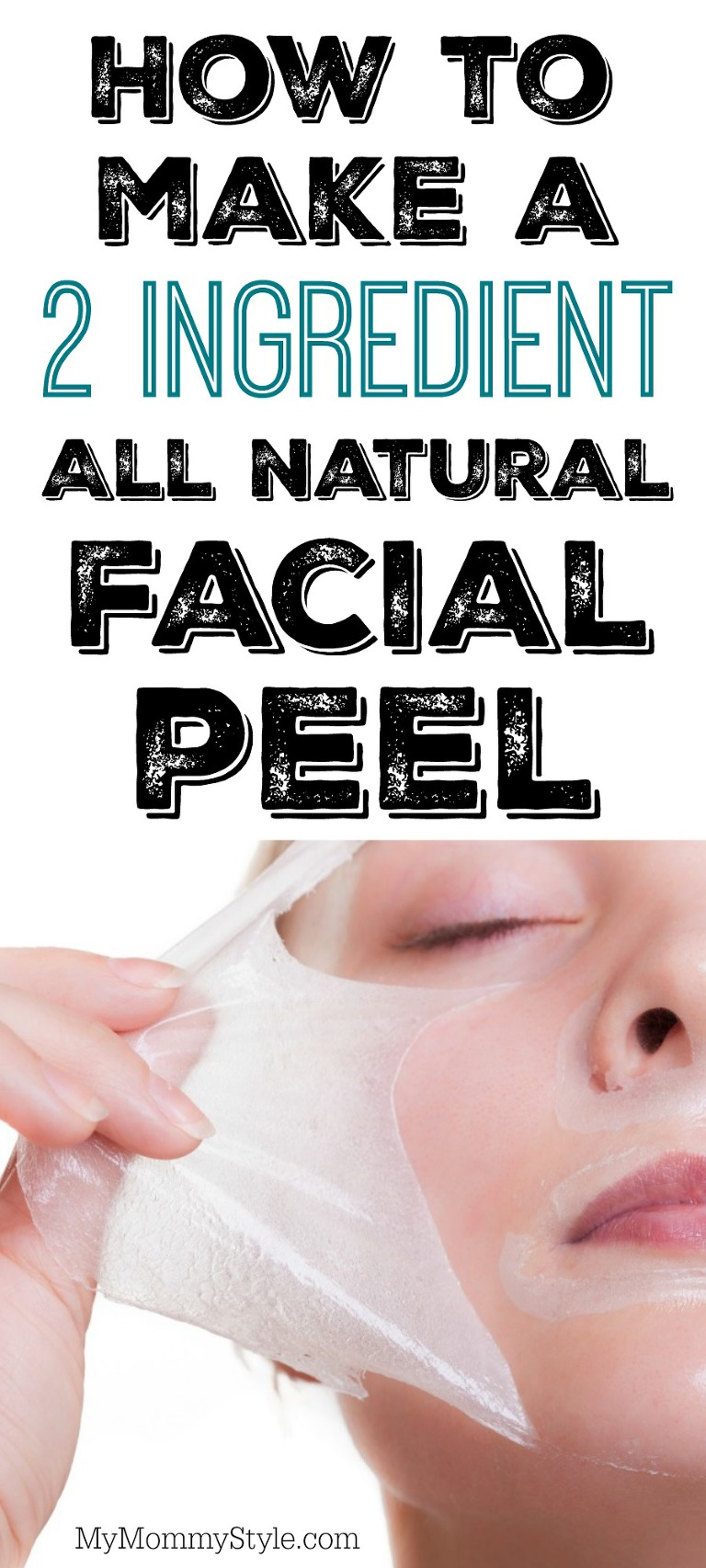 How to make a 2 ingredient all natural facial peel