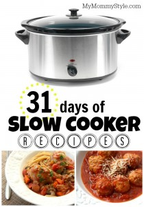 31 days of slow cooker recipes