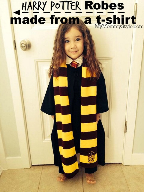 Harry potter robes diy made out of a t shirt my mommy style harry potter robes diy mymommystyle solutioingenieria Choice Image