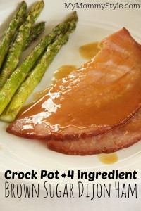 Crock Pot, 4 ingredient Brown Sugar Dijon Ham