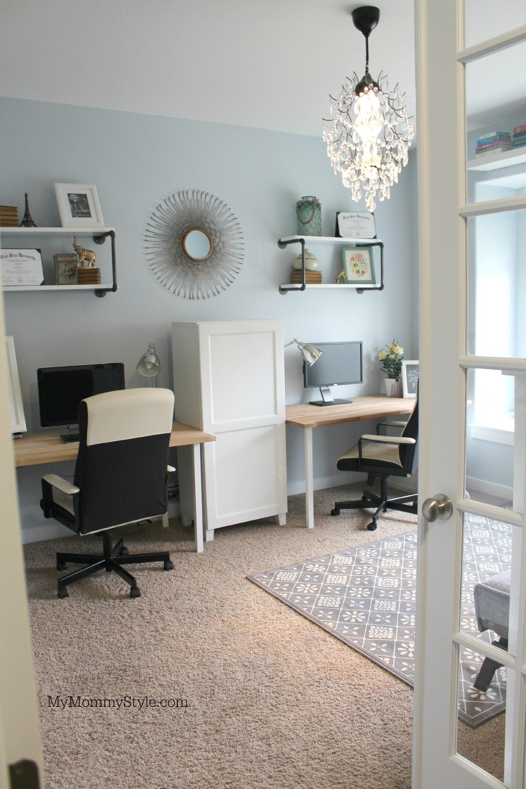 guest room home office. Family Office And Guest Room, IKEA, Mymommystyle.com, Modifyink, Room Home