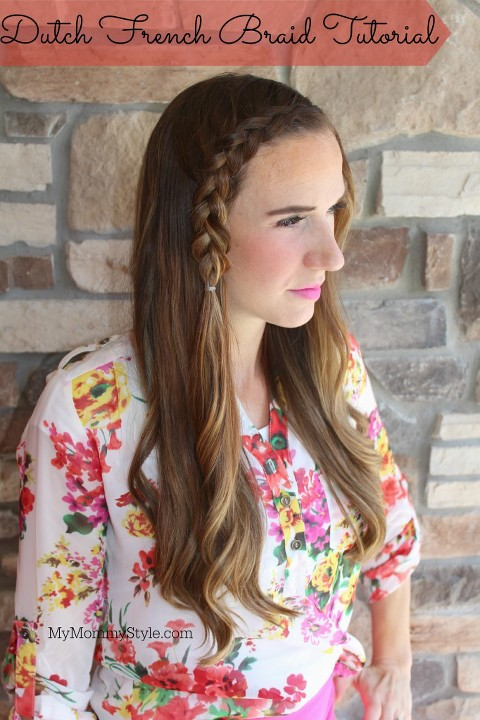 Dutch French Braid Tutorial, Suave, how to dutch braid, french braid, tutorial, hair, mymommystyle.com