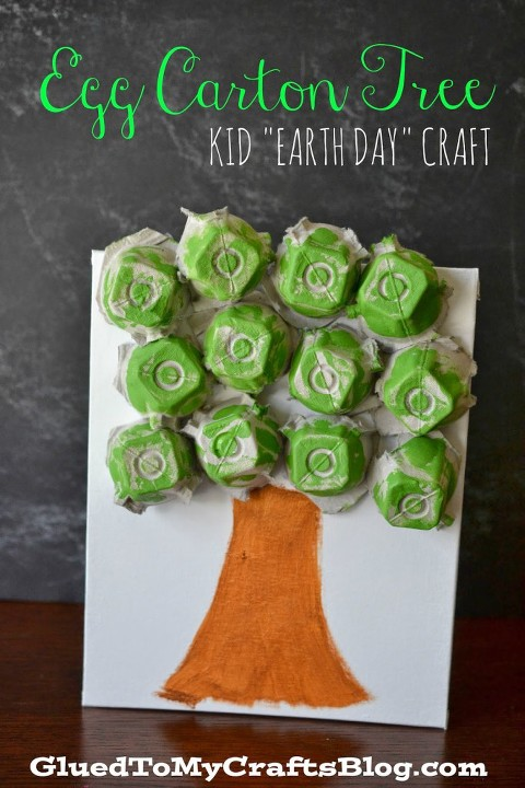 Art And Craft Ideas For Kids Using Recycled Materials Part - 31: Recycled Art Egg Carton Tree. Egg Carton Jellyfish From Family Crafts