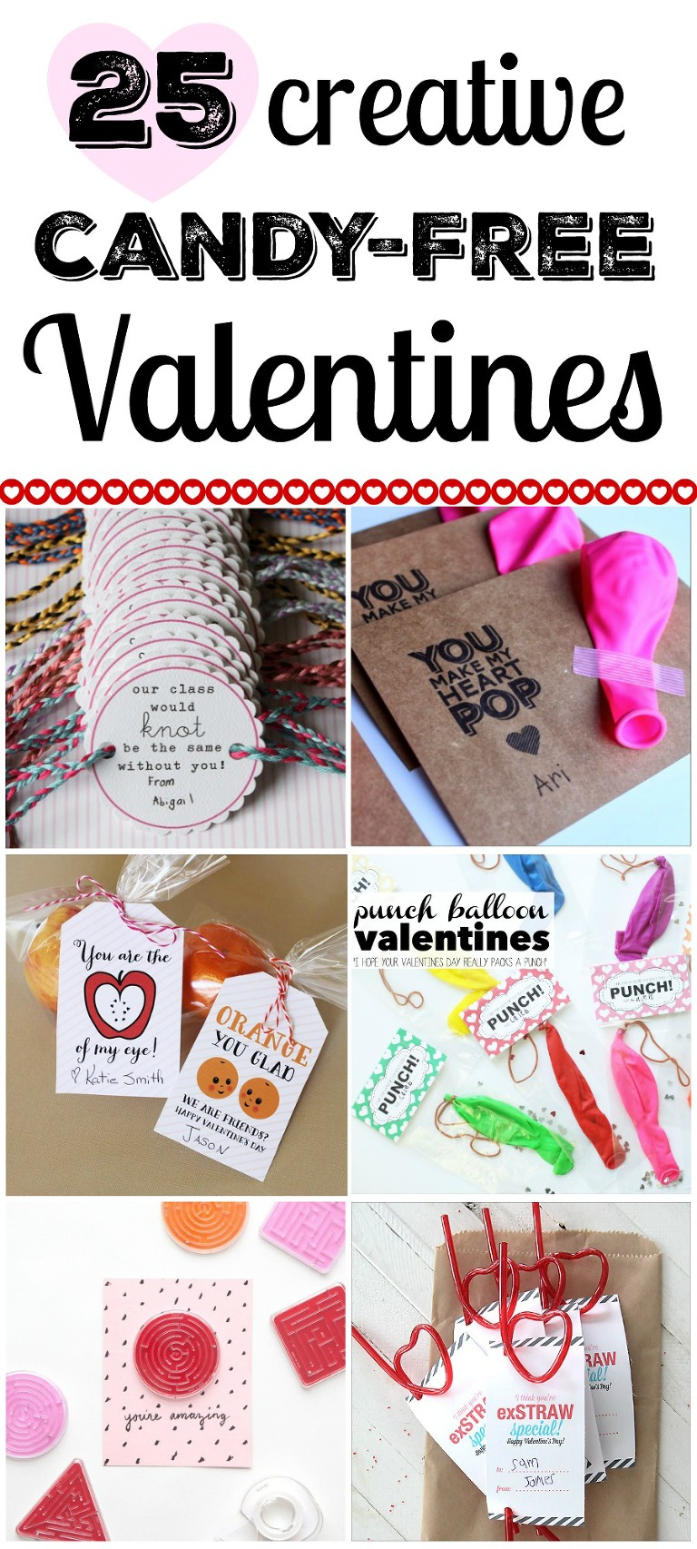 25 creative candy-free Valentines