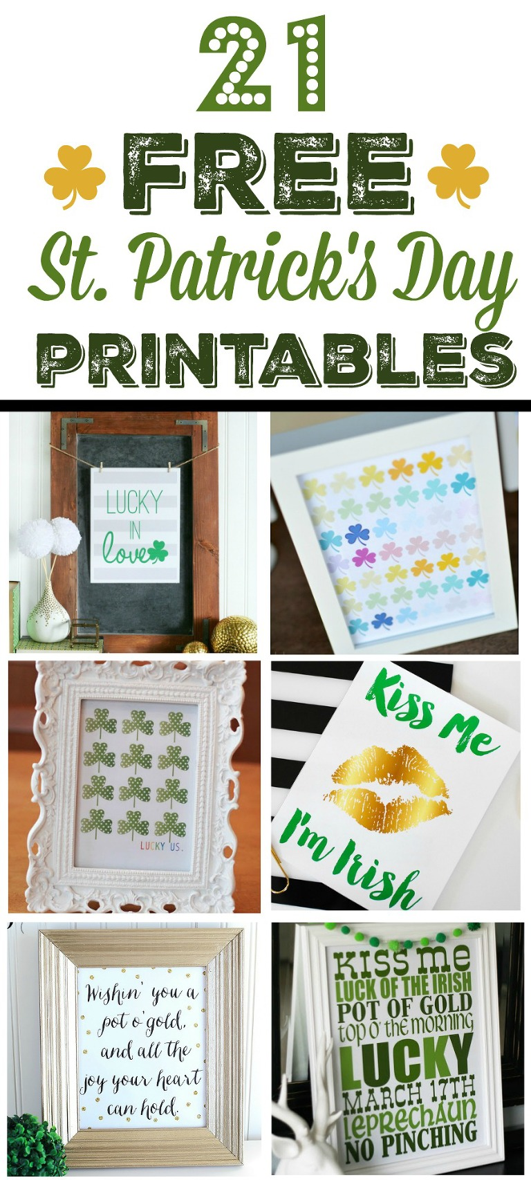 21 free st patrick's day printables