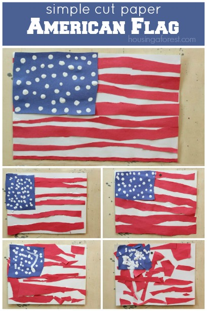 Diy Americn Flag Craft Project For Toddlers