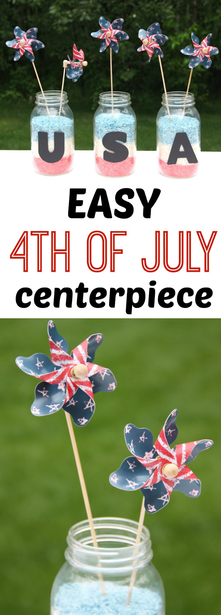 easy fourth of july centerpiece