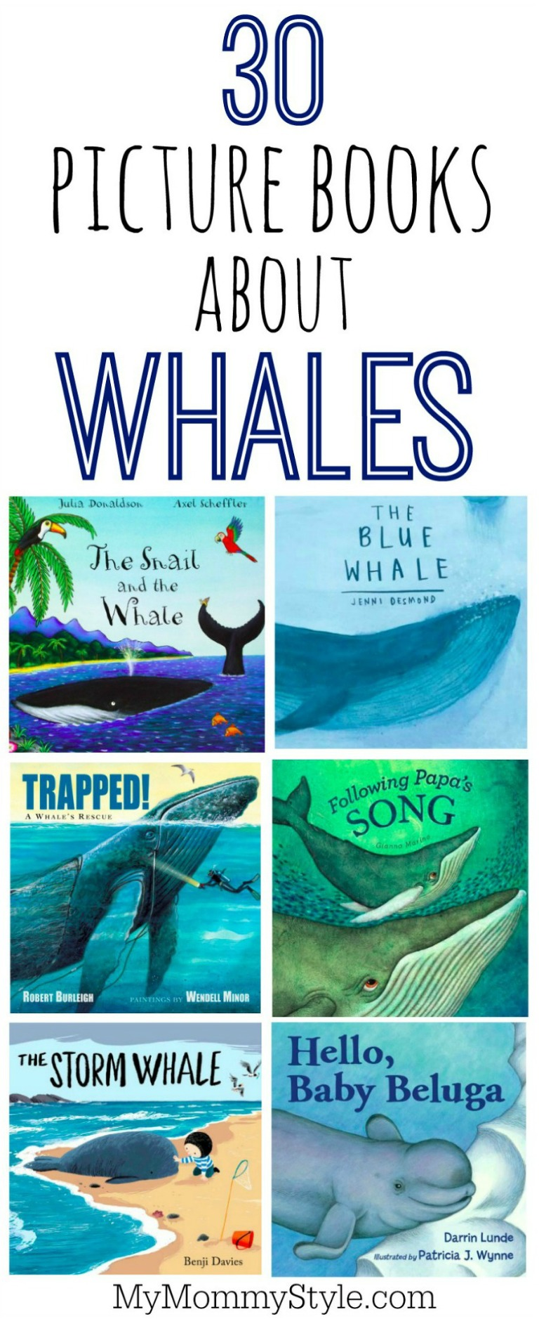 picture books about whales for preschoolers and young kids. Perfect books to read for under the sea theme at school.