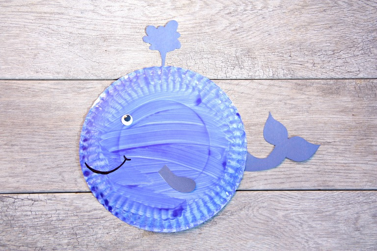 I love these paper plates for crafts (cheap and easy to paint!)  sc 1 st  My Mommy Style & Whale paper plate craft - My Mommy Style