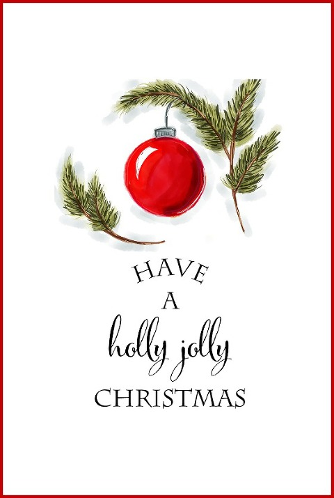 have a holly jolly christmas free printable blog - Free Printables For Christmas