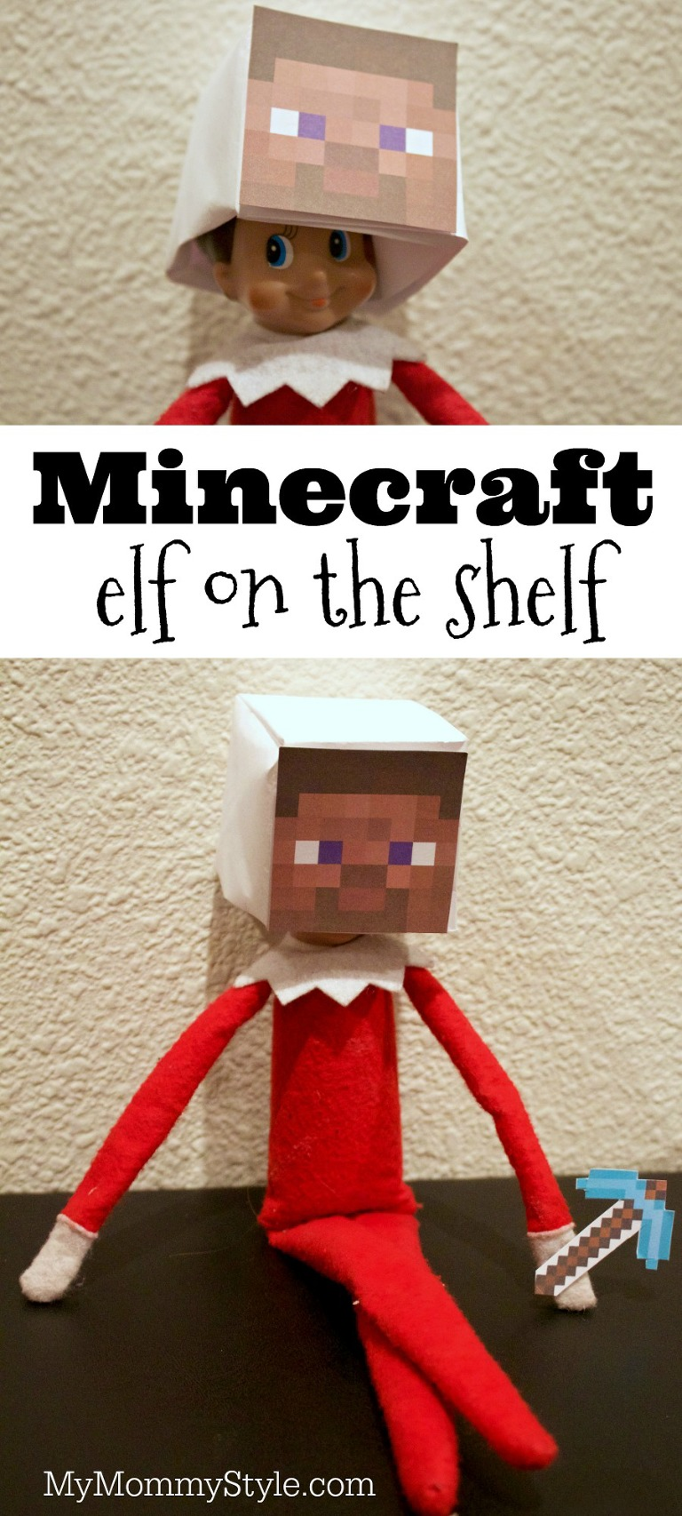 Minecraft elf on the shelf my mommy style for Elf shelf craft show