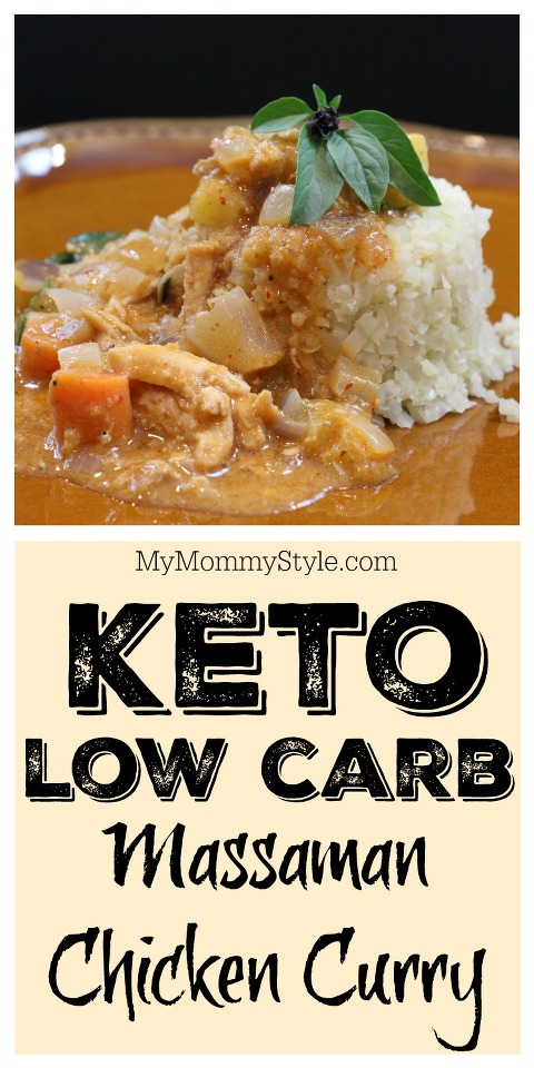Keto Low Carb Chicken Curry Pinnable