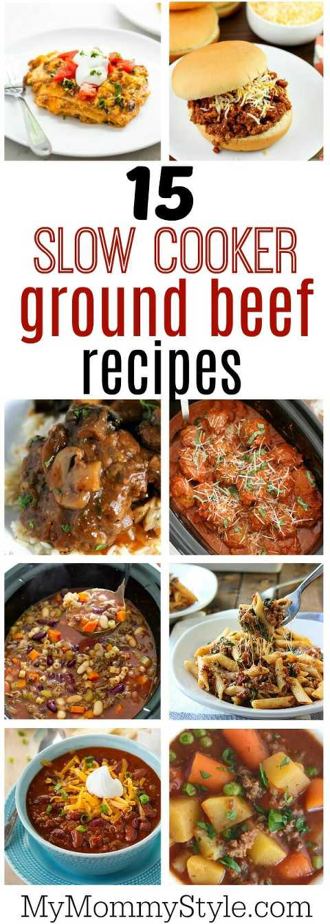 15 slow cooker ground beef recipes