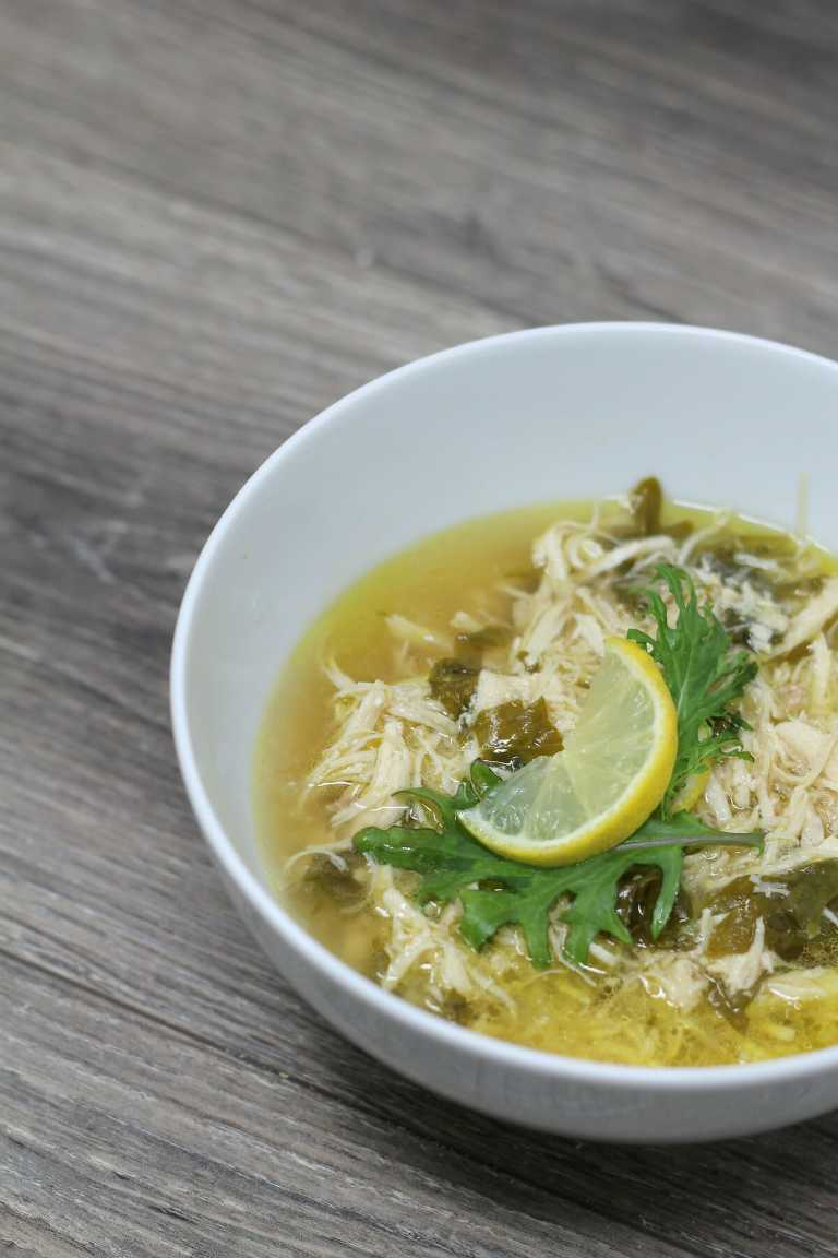 Instant Pot Lemon Kale Chicken Soup