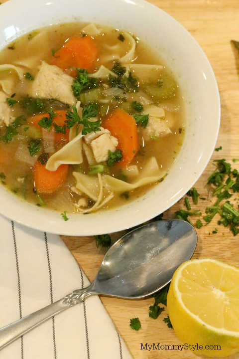 instant pot chicken noodle soup  my mommy style