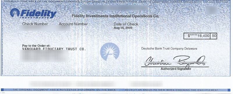 My Fat Rollover Check Arrived \u2014 My Money Blog