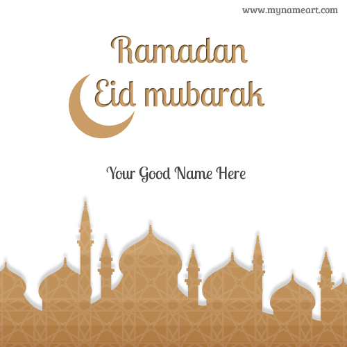 Animated Name Wallpaper Maker Write Name On Eid Ul Fitr Mubarak Wishes Pictures