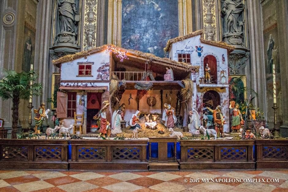 Picture of Ferrara Cathedral's Nativity Scene.