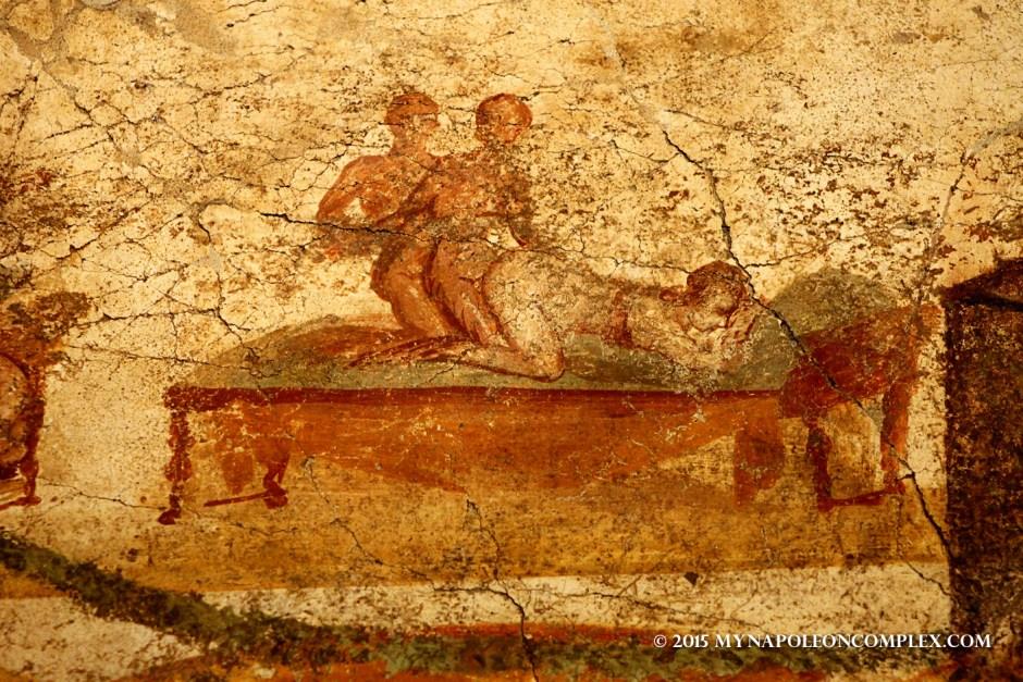 Picture of erotic art in Pompeii