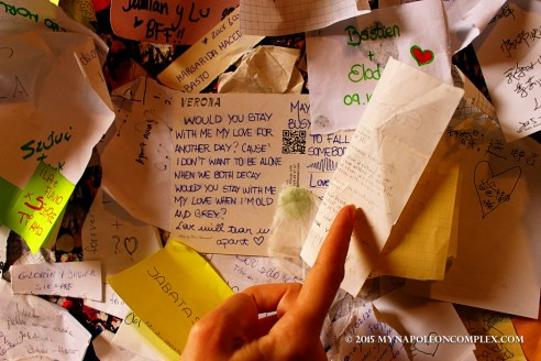 Picture of Letters to Juliet in Verona, Italy