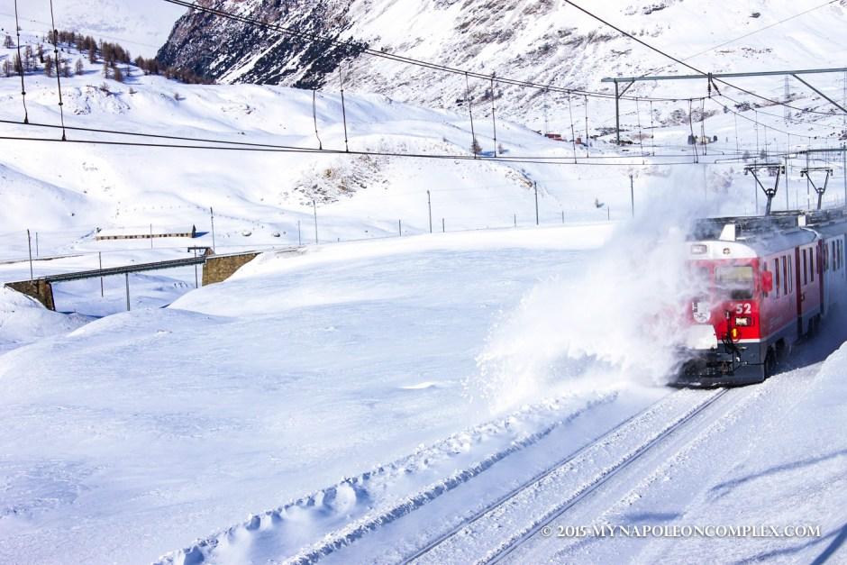 Picture of Rhaetian Railways along the Bernina Pass, Switzerland
