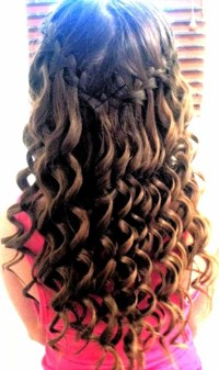 Waterfall Braid With Curls - My New Hair