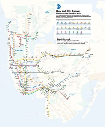 This is What NYC's Subway System Looks Like as of 4PM Due to The Blizzard