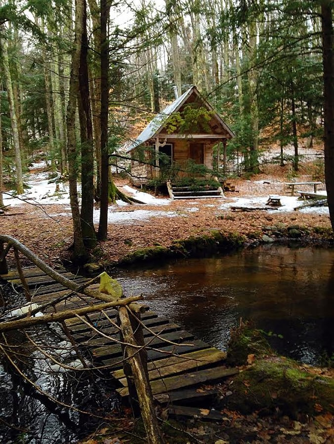 Fall Live Wallpaper Old Cabin In The Woods Cedar Run Creek Natural Area