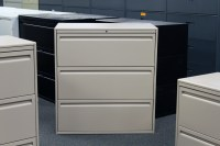 Used Haworth 3 Drawer Lateral File - Filing Cabinets