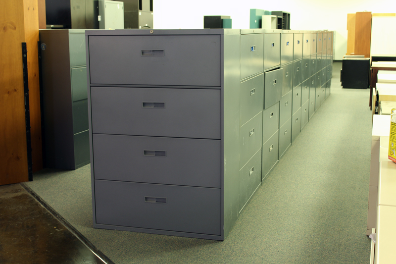 used steelcase 4 drawer lateral file cabinets used storage