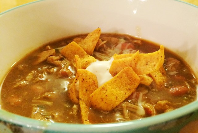 Turkey Tortilla Soup | via MyOtherMoreExcitingSelf.com #serveturkey #Thanksgiving #leftovers #switchtoturkey #JennieO