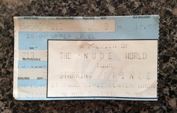 Prince ticket stub - 1990
