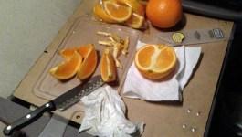 Eating Healthy on the Road; Fresh Orange Snacks