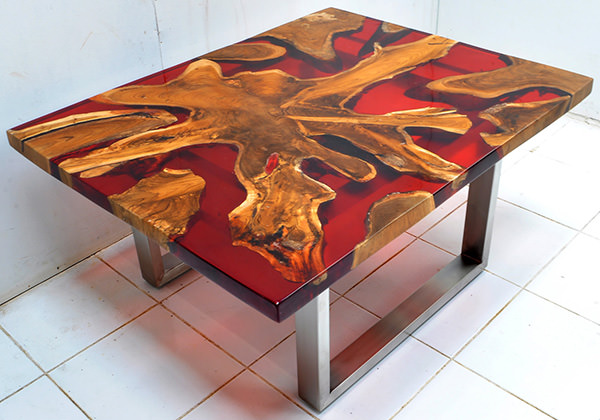Custom Solid Hardwood Furniture Solid wood and resin custom-made furniture manufacturing