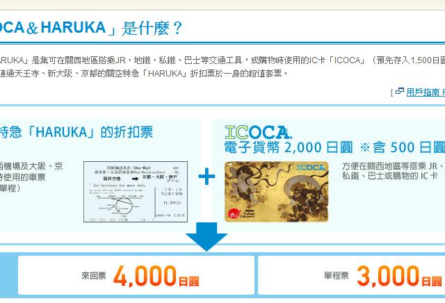 ICOCA and HARUKA