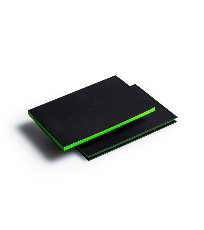 Carnets duo couverture tranche vert