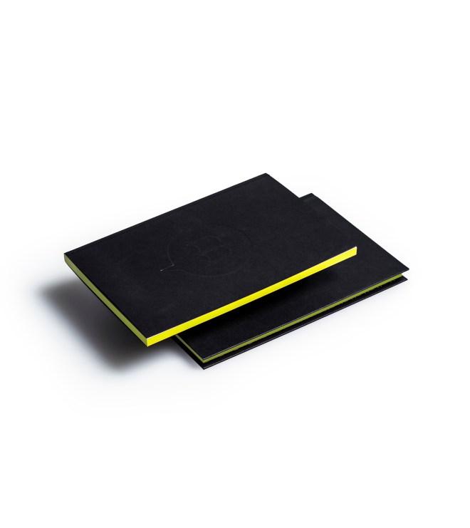 Carnets duo couverture tranche jaune