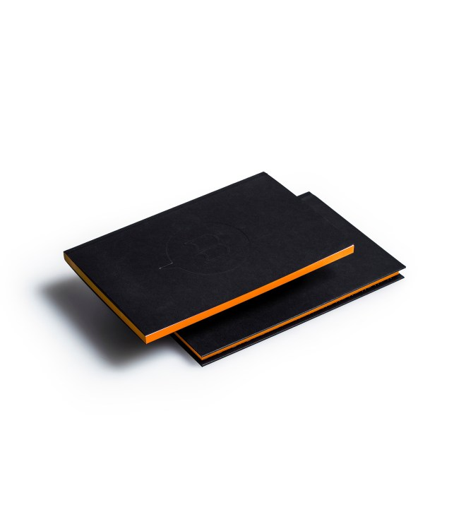 Carnets duo couverture tranche orange