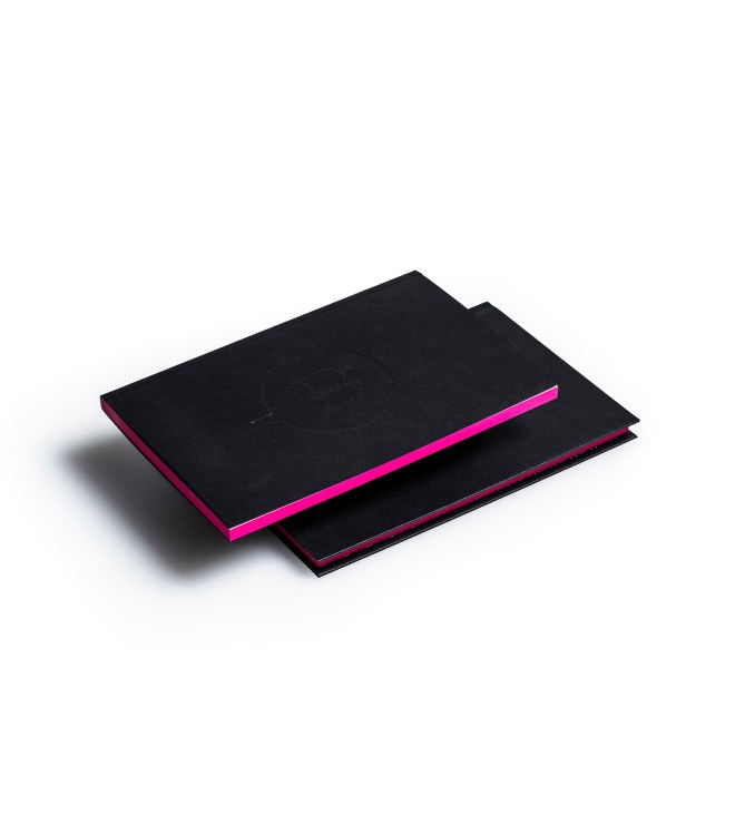Carnets duo couverture tranche rose