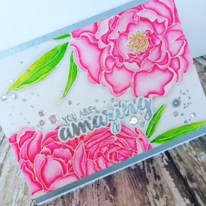 You Are Amazing Mondo Peony Card