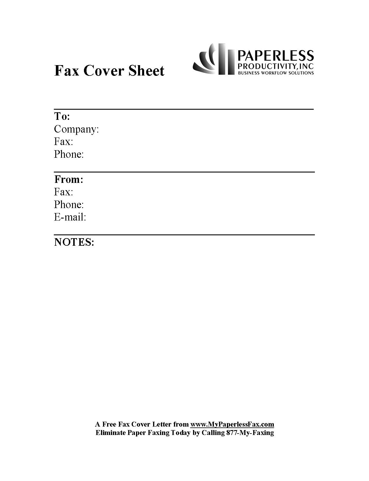 Sample Of Fax Cover Sheet – Blank Fax Cover Sheet Template