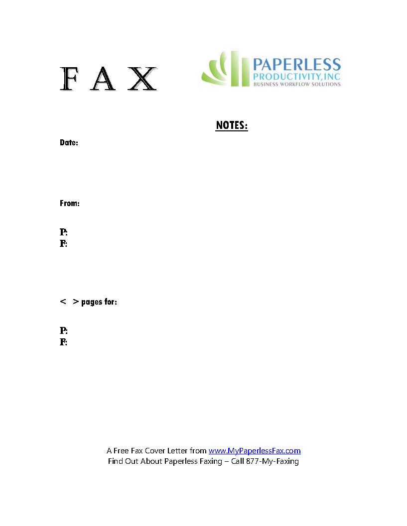 Fax Cover Pages – Fax Cover Sheet Template for Pages
