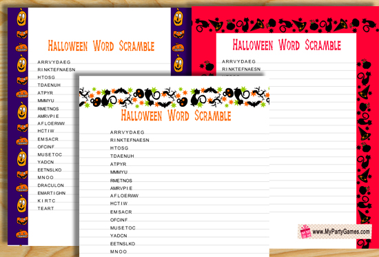 HD Wallpapers Free Printable Halloween Unscramble Words Worksheets