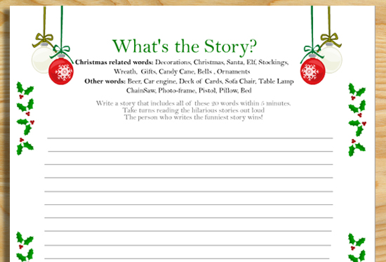 20+ Free Printable Christmas Games
