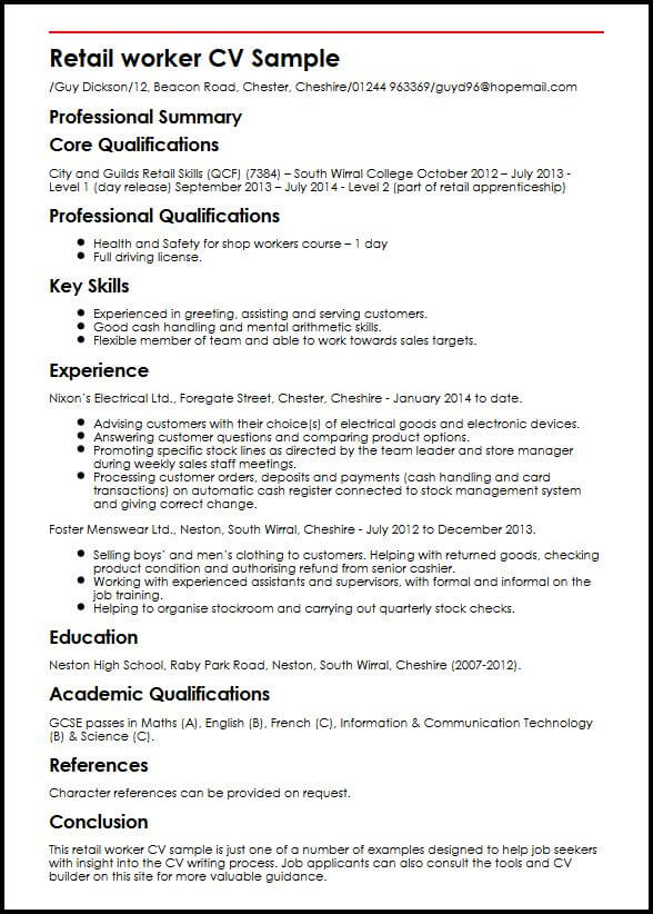 skills and achievements cv template