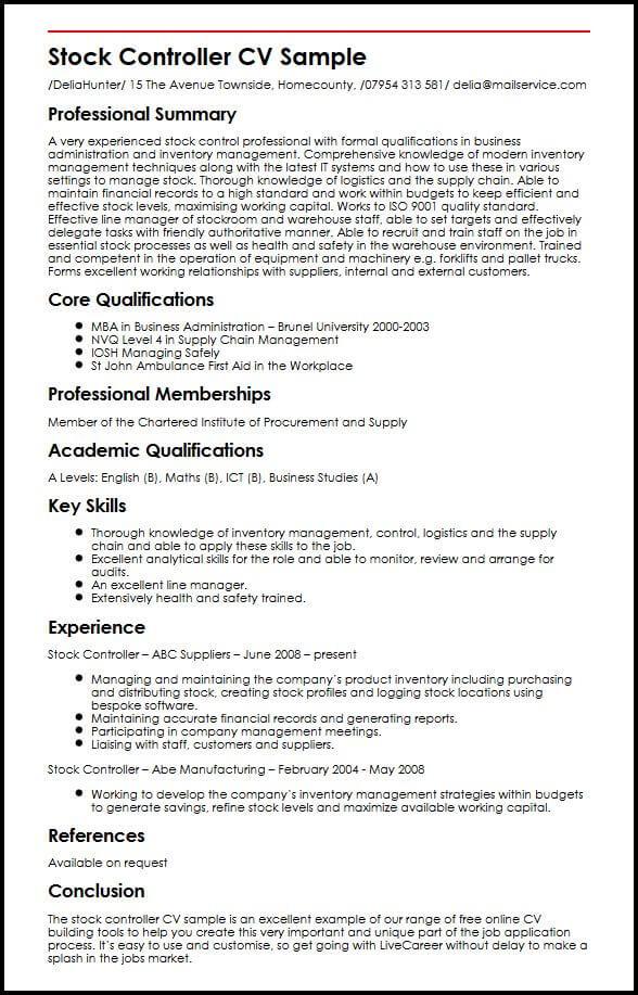 competencies cv