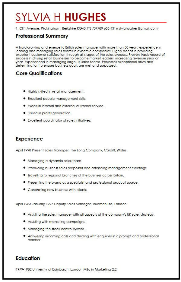 sample cv english teacher uk