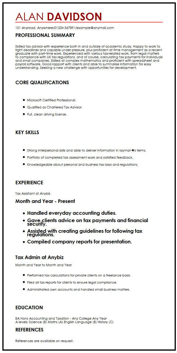 CV Sample for Graduate Students MyperfectCV