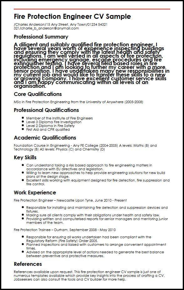 create my resume sample fire resume fire safety engineer resume