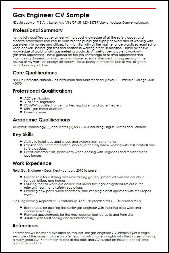 main strengths cv examples